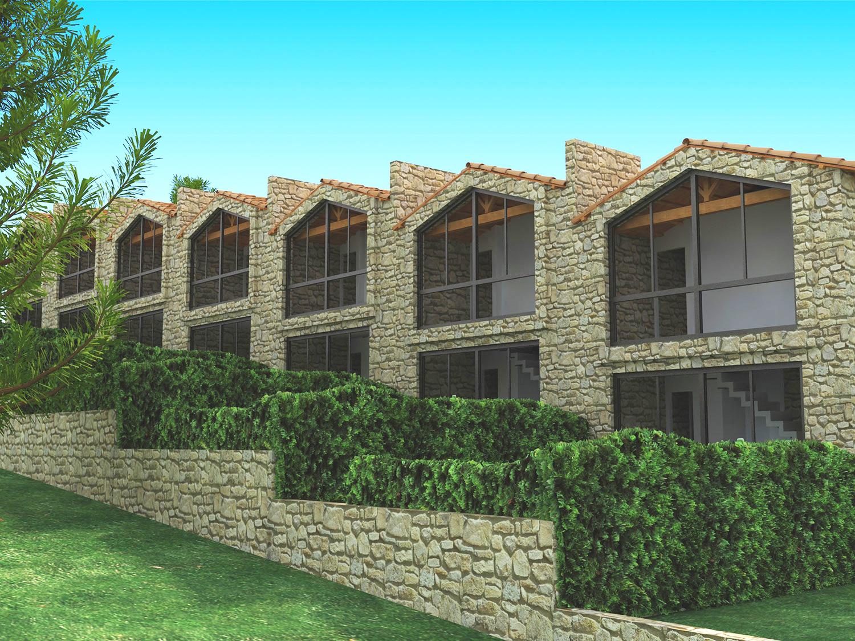 Case a schiera for Planimetrie urbane di case a schiera